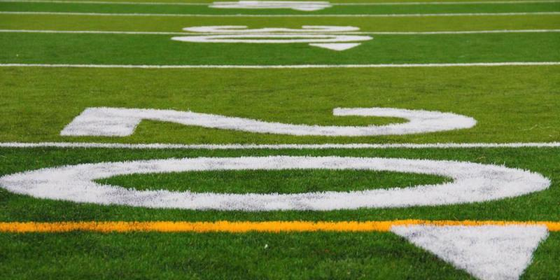 Close-up of Football Field